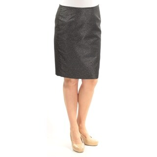 Womens Black Silver Party Skirt Size 12