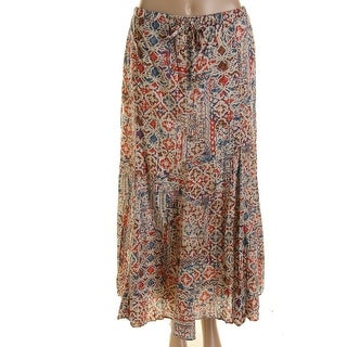 LRL Lauren Jeans Co. Womens Cotton Printed Maxi Skirt