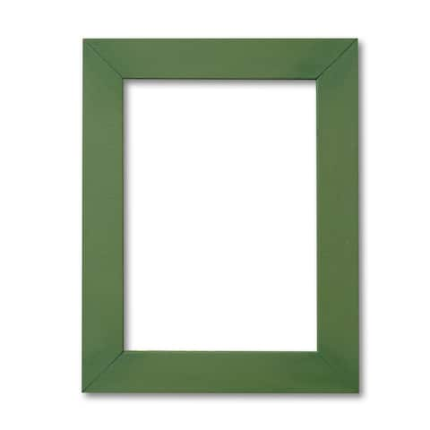 Signature Edge Chalkboard Army Green Painted Wood Frame