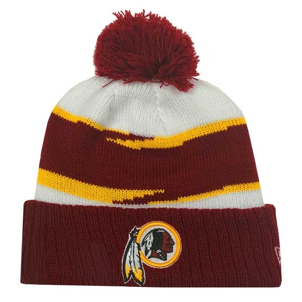 71a4ee2df New Era 2018 NFL Washington Redskins Thanksgiving Stocking Knit Hat Beanie  POM