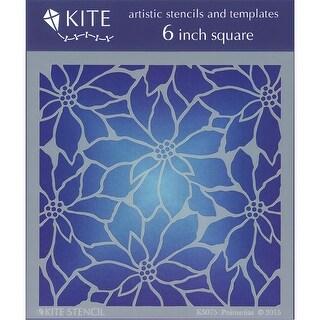 "Judikins Kite Stencil 6"" Square-Poinsettias"