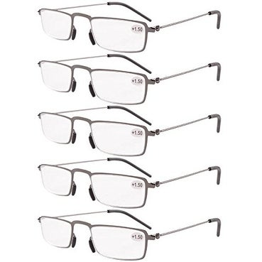 4dee068ea6 Shop Eyekepper 5-Pack Thin Stamped Metal Frame Half-eye Style Reading  Glasses Gunmetal +2.25 - Free Shipping On Orders Over  45 - Overstock -  15920205