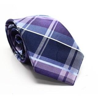 Michael Kors NEW Blue Marisa Plaid Men's Linen Silk Blend Necktie