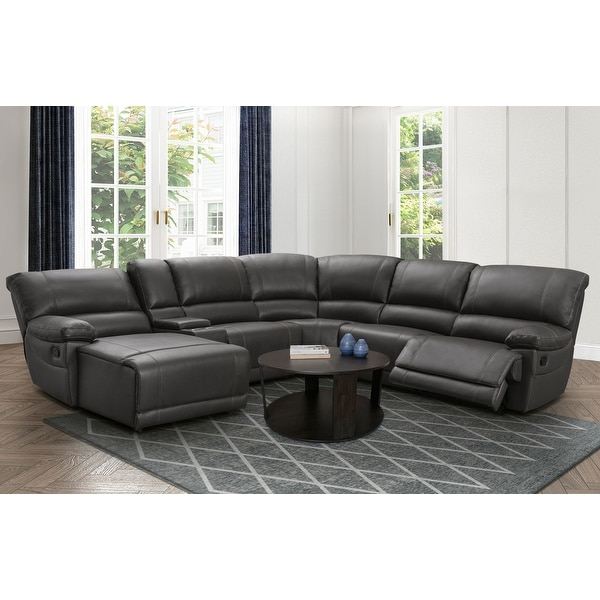 Abbyson Cooper Manual Reclining Sectional with Chaise. Opens flyout.