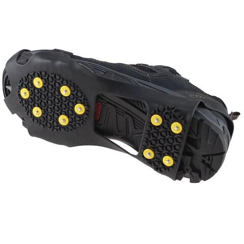 AGPtek Ice Snow Anti Slip Teeth Grip Shoe Covers Overshoes Snow Shoes Crampons Cleats M