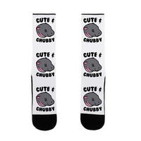 Cute & Chubby US Size 7-13 Socks by LookHUMAN