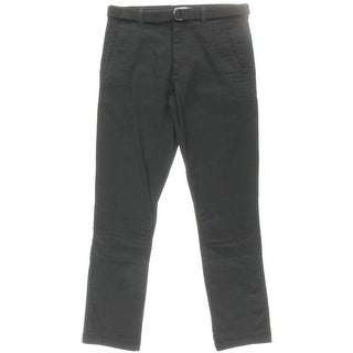 Zara Mens Flat Front Solid Casual Pants - 31