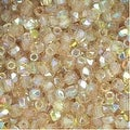 True2 Czech Fire Polished Glass, Faceted Round 2mm, 50 Pieces, Crystal Lemon Rainbow - Thumbnail 0