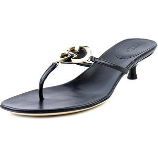 Gucci Ellesmere Women Open Toe Leather Thong Sandal