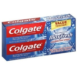 Colgate MaxFresh Fluoride Toothpaste 6 oz, Twin Pack, Cool Mint 2 ea
