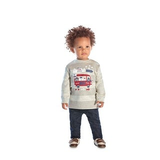 Baby Boy Outfit Infant Sweatshirt and Denim Pants Set Pulla Bulla 3-9 Months