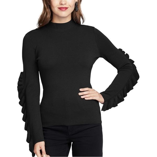 Rachel Roy Womens Ruffle-Sleeve Knit Sweater. Opens flyout.