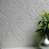 Brewster 437-RD80027 High Trad Paintable Textured Vinyl Wallpaper - N/A