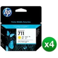 HP 711 29-ml Yellow DesignJet 3 Ink Cartridges (CZ136A)(4-Pack)