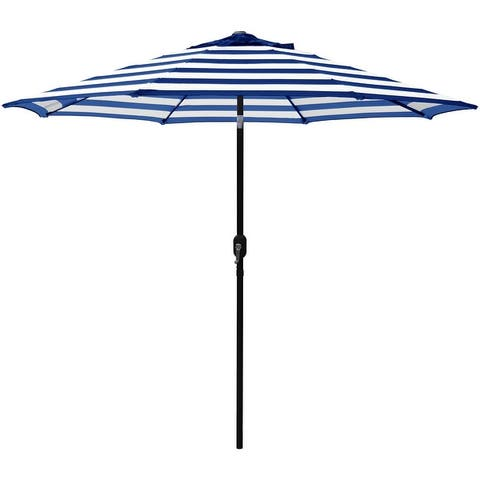 Maypex 9 Feet Stripe Crank and Tilt Market Umbrella