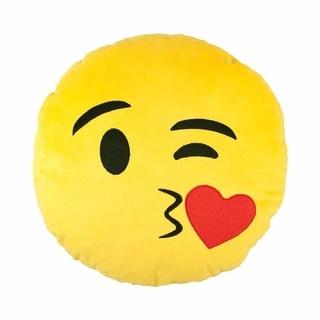 Emojicon Winky Kiss Plush Pillow