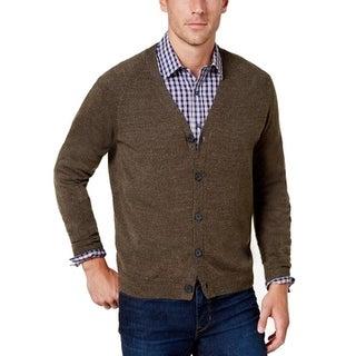 Weatherproof Marble Mens Large Cardigan Sweater