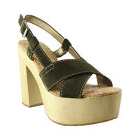 Sam Edelman Womens Mae MossGreen Wedge Sandals Size 7.5