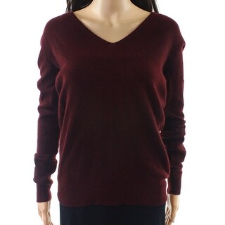 Theory NEW Red Womens Size Large L Adrianna V-Neck Cashmere Sweater