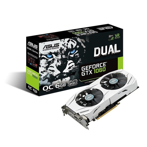 ASUS Dual series of GeForce GTX 1060 6GB GDDR5 Video Graphics Card - White
