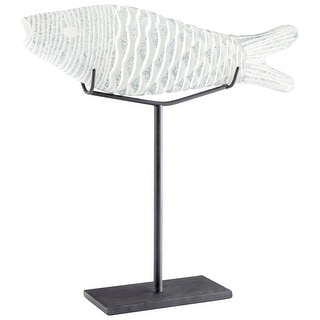 Cyan Design 10035  Grouper Glass and Iron Fish Statue - Frosted Ice
