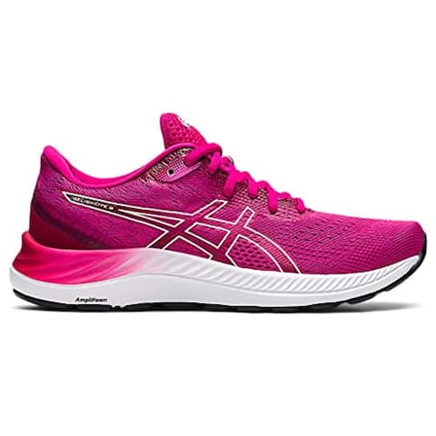 ASICS Women's Gel-Excite 8 Running Shoes, Pink Rave/White