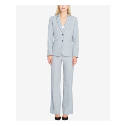 TAHARI Womens Gray Blazer Wear to Work Jacket Size 4