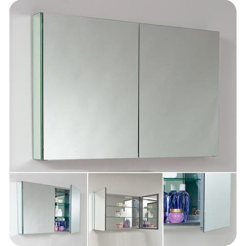 """Fresca FMC8010 40"""" Double Door Frameless Medicine Cabinet with Two - Mirror"""