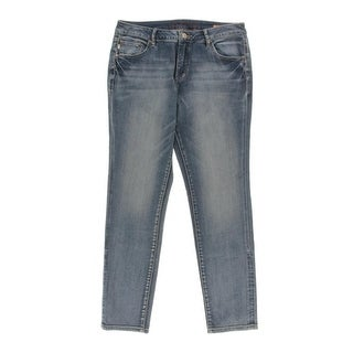 Jag Jeans Womens Sheridan Skinny Jeans Whiskered Light Wash