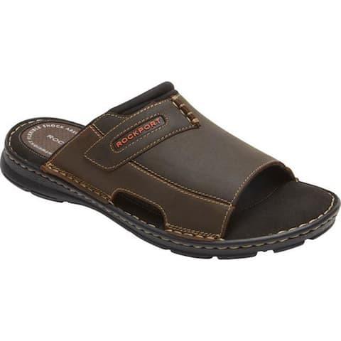 Rockport Men's Darwyn 2 Slide Brown II Leather