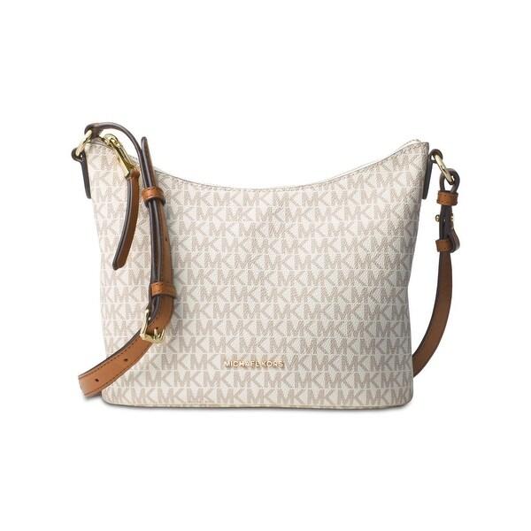 df79429ee75f96 Michael Kors Womens Lupita Messenger Handbag Signature Leather - Medium