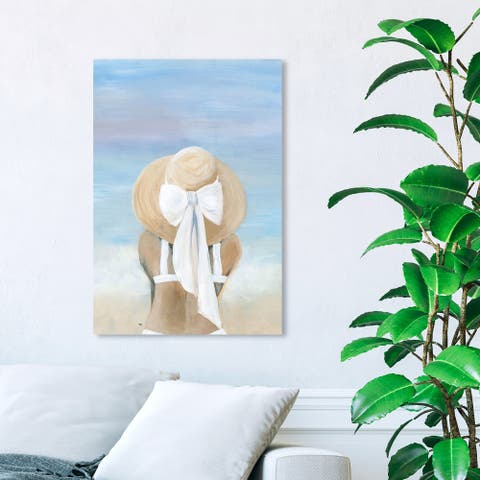 Wynwood Studio 'Ocean Breeze White' Fashion and Glam Wall Art Canvas Print Accessories - White, Blue