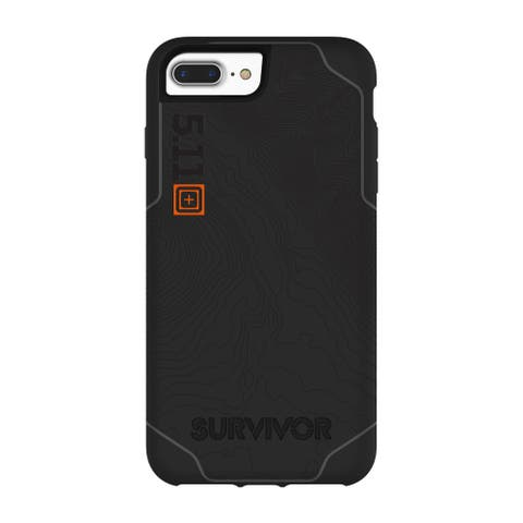 Griffin Survivor 5.11 Strong Tactical Edition Strong Case for iPhone 8 Plus & 7 Plus - Black/Gray - Black