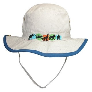 CTM® Kids' Cotton Animal Sun Bucket Hat with Snap Up Brim - Royal Blue - One Size