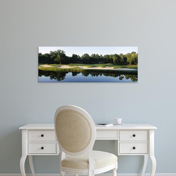 Easy Art Prints Panoramic Image 'Lake,Kiawah Island Golf Resort, Kiawah Island, Charleston, South Carolina' Canvas Art