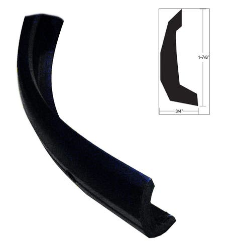 Taco semi rigid rub rail kit 1 7/8 x30' black