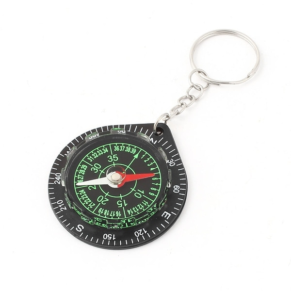 Unique Bargains Plastic Dial Hiking Camping Direction Guide Survival Pocket Compass Key Ring