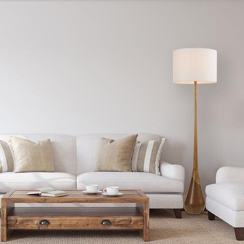 Carson Carrington Hjularod 65-inch Faux Wood Floor Lamp