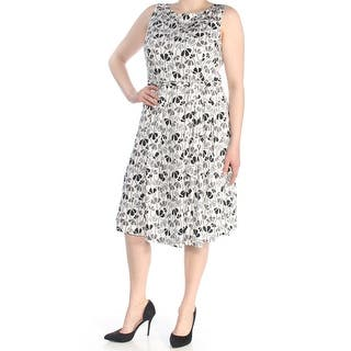2ae296b00c2 ANNE KLEIN Womens White Sleeveless Jewel Neck Knee Length Fit + Flare Dress  Size  6. New Arrival. Quick View