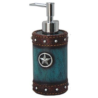 Gift Corral Western Soap Dispenser Star Turquoise Brown
