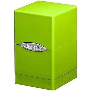 Ultra Pro International UP84179 Lime Green Satin Tower Deck Boxes