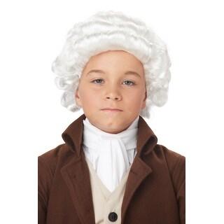 California Costumes Child Colonial Man Wig (White) - White