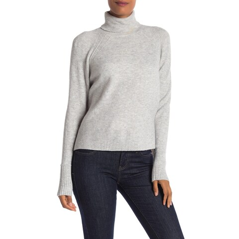 Vince Camuto Gray Womens Size Small S Cozy Hi-Lo Turtleneck Sweater