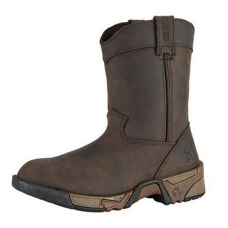 Rocky Western Boots Boys Aztec Pull On Wellington Brown FQ0003638