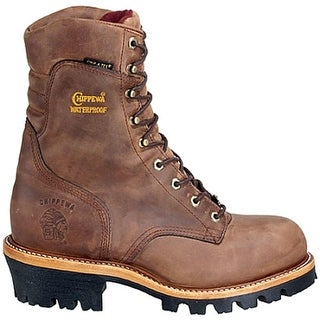 "Chippewa 9"" Logger Steel Toe Men 3E Steel Toe Leather Work Boot"