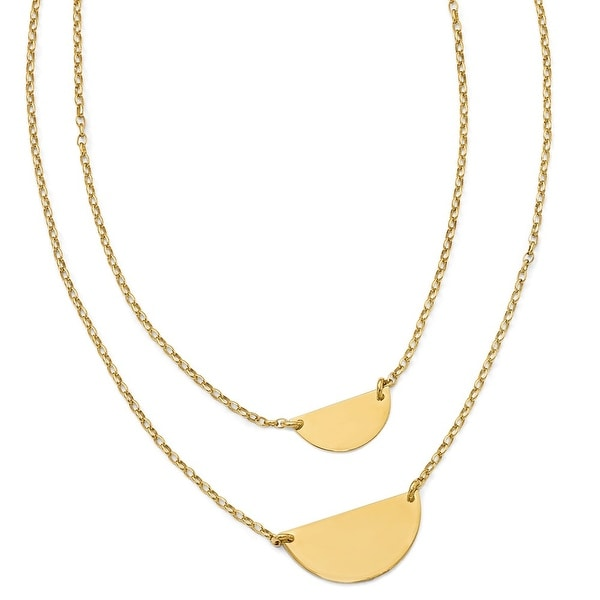 Italian Sterling Silver Gold-tone with 1in ext. Necklace - 18 inches