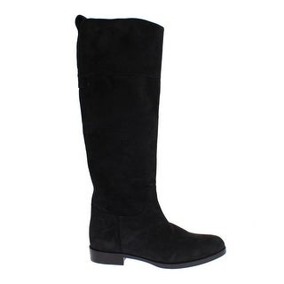 Dolce & Gabbana Gray Suede Goatskin Flat Boots - 37