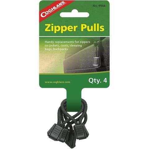 Coghlan's Zipper Pulls (4 Pack), Replacements for Jackets, Coats - One Size