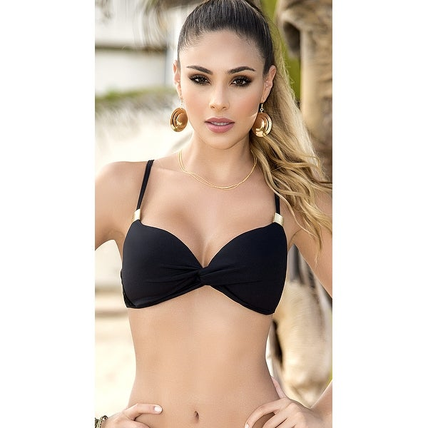 35a0d632a0f52 Shop Yandy Twisted Crochet Bikini Top - Black - Free Shipping On Orders  Over $45 - Overstock - 21023470
