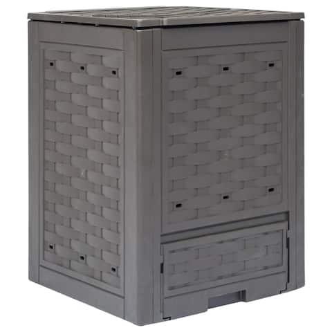 vidaXL Garden Composter Brown 23.6x23.6x32.7 79.3 gal